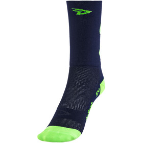 DeFeet Aireator Do Epic Shit Doppel-Bund Socken Blau/Neon Grün